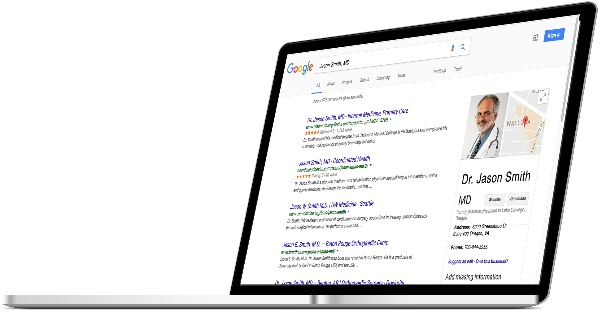 Physician Search Engine Optimization