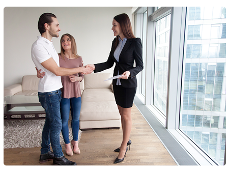 Family buying apartment