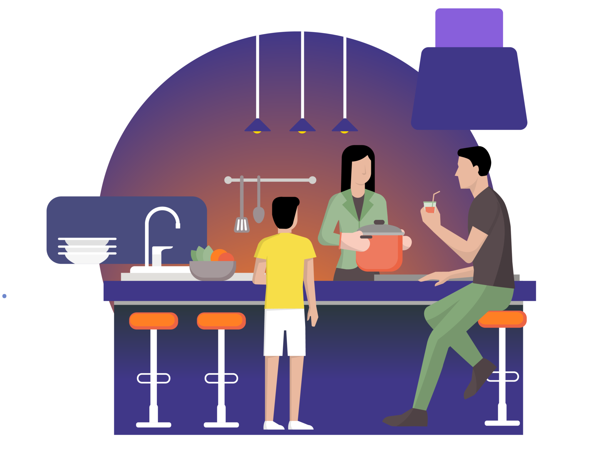 family kitchen graphic