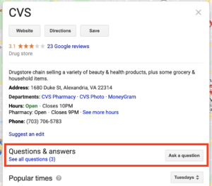 google-question-answer-cvs