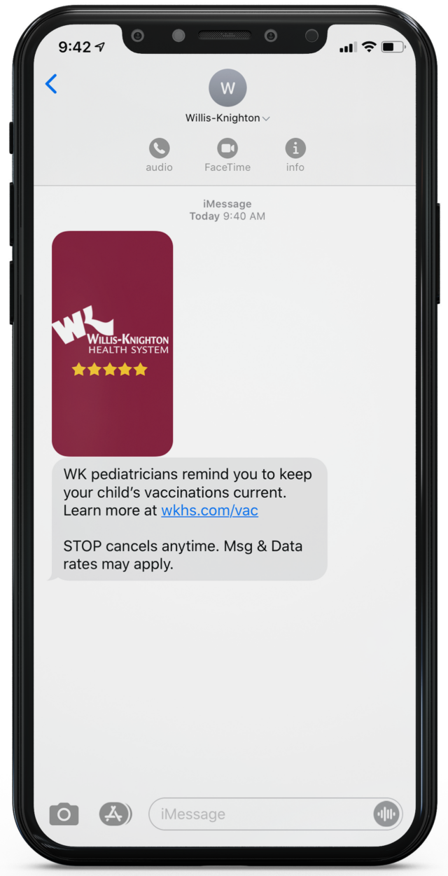 willis-knighton-vaccine-immunication-text